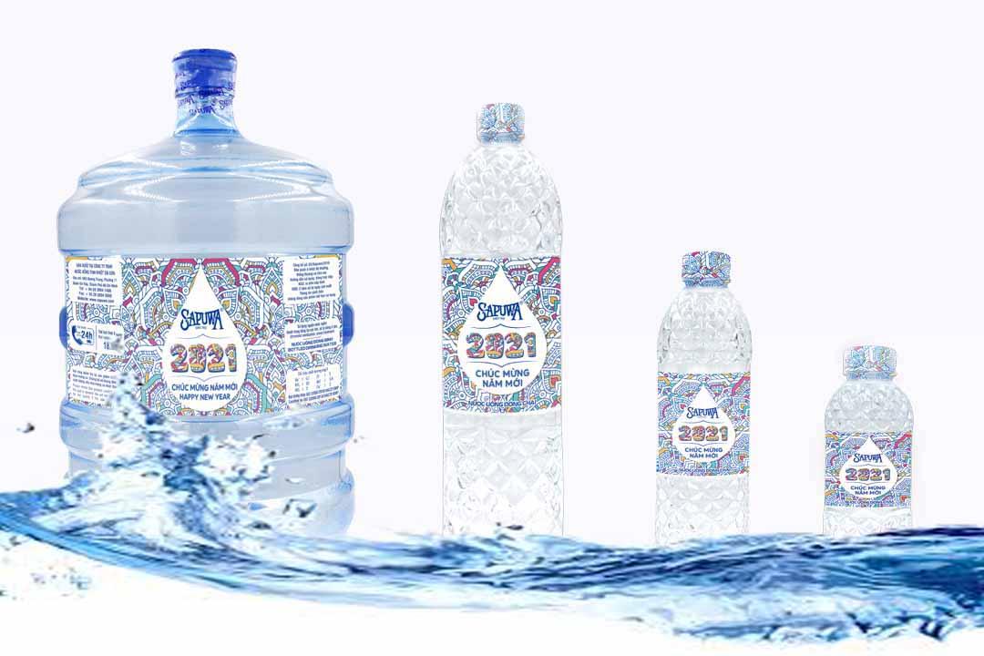 Sapuwa bình 18.9L, chai 1.5L, 500ml, 330ml.